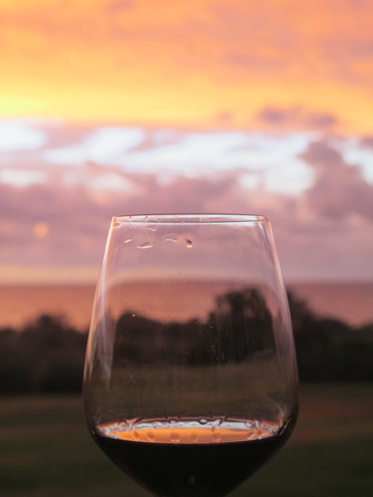 Red Wine at Sunset, Grange Beach, Adelaide, South Australia
