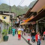 Walking in Aguas Calientes, Peru, South America
