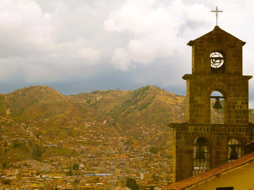 View from San Blas, Cusco, Peru, South America