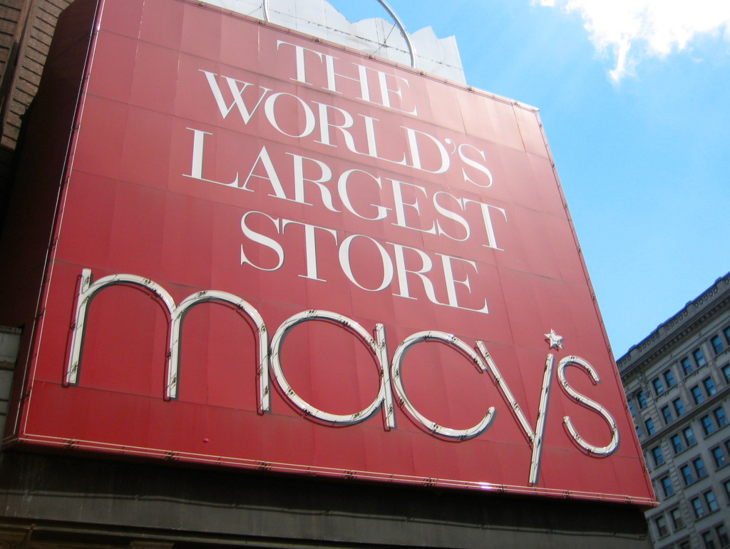 Sign of Macy's The World's Largest Store New York