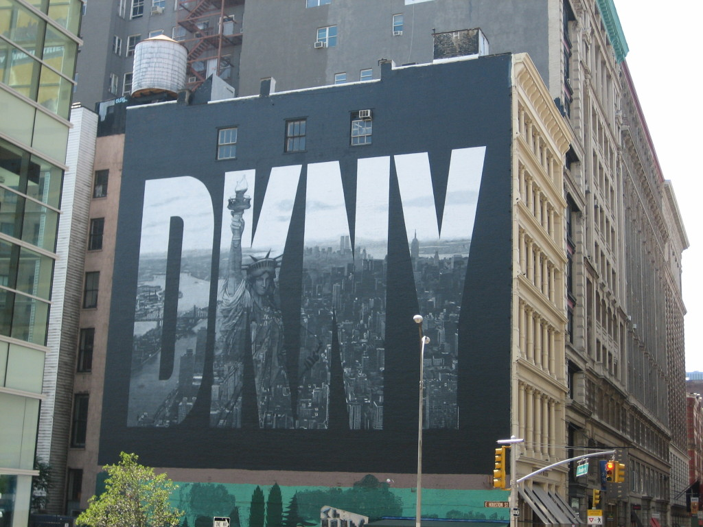 DKNY mural on wall in New York