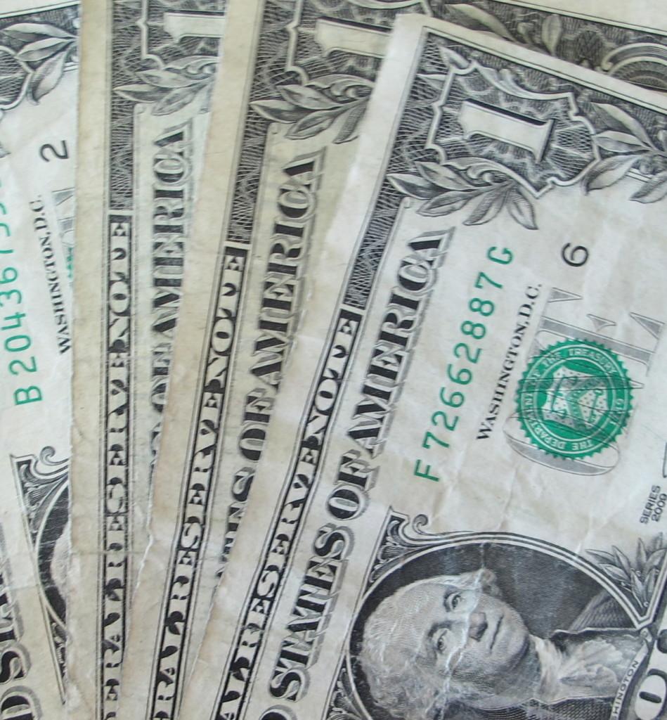 US $1 dollar bills