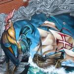 Le Coq et Le Bateau, street art in Le Plateau Mont-Royal