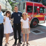 Rey and I with Firemen