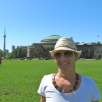 Saly Watson with CN Tower