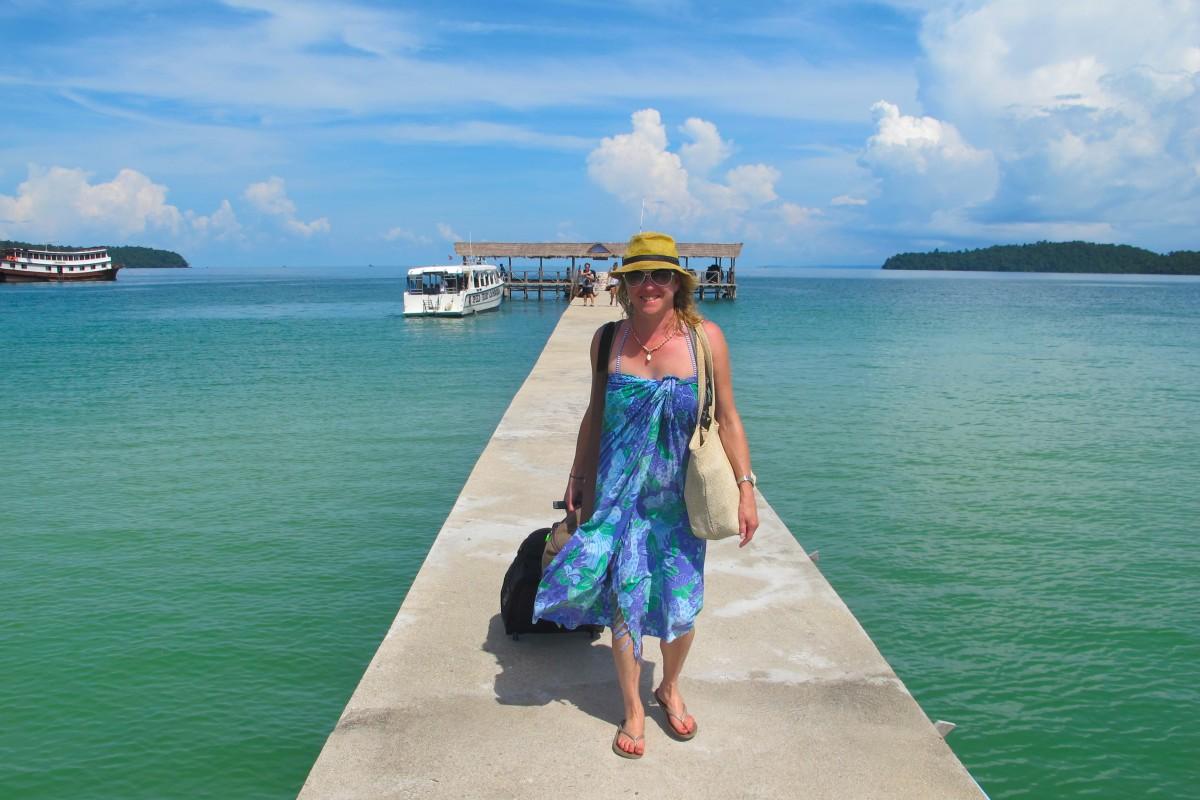Wing Woman Adventures arriving at Saracen Bay, Koh Rong Samloem, Cambodia