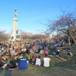 Spring is sprung when people are hanging out at Parc Mont-Royal